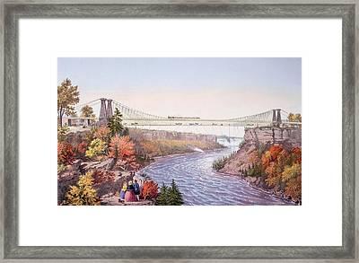 The Niagara Falls Suspension Bridge Framed Print