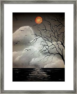 The Night Of The Blood Red Moon Framed Print by Edwin Alverio