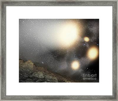 The Night Sky As Seen Framed Print