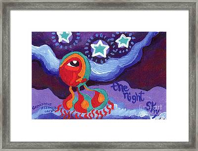 The Night Sky Framed Print by Genevieve Esson