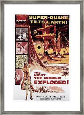 The Night The World Exploded, William Framed Print by Everett