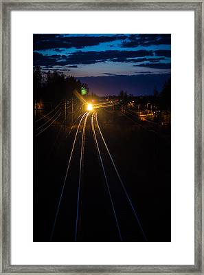 Framed Print featuring the photograph The Night Train by Matti Ollikainen