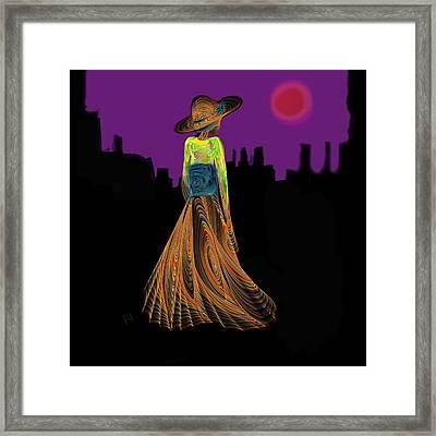 The Night With Kimono Framed Print by Hayrettin Karaerkek