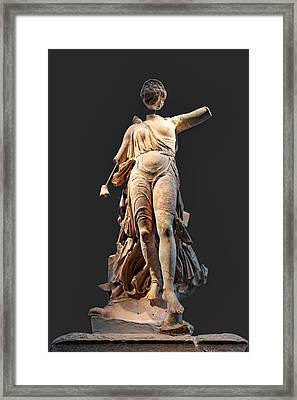 The Nike Of Paeonios - Ancient Olympia Framed Print by Constantinos Iliopoulos