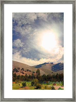 The Niles Sign In The Hills Of Niles California . 7d12707 Framed Print by Wingsdomain Art and Photography