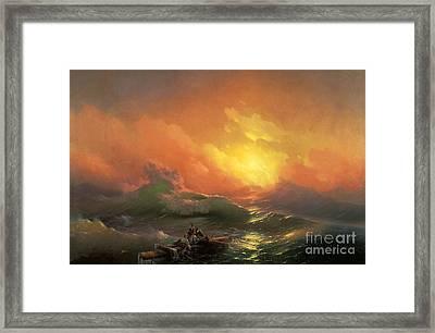 The Ninth Wave Framed Print by Aivazovsky