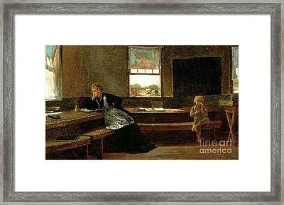 The Noon Recess Framed Print by Winslow Homer