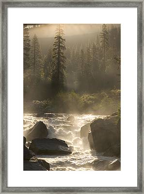 The North Fork Of The Stanislaus River Framed Print by Phil Schermeister