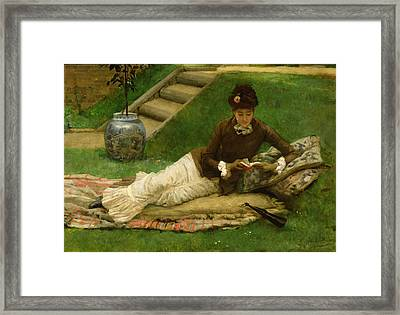 The Novel Framed Print