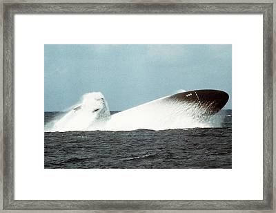 The Nuclear-powered Attack Submarine Framed Print by Everett