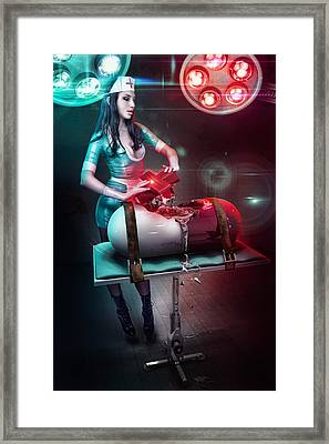 The Nurse Framed Print by Robert Palmer