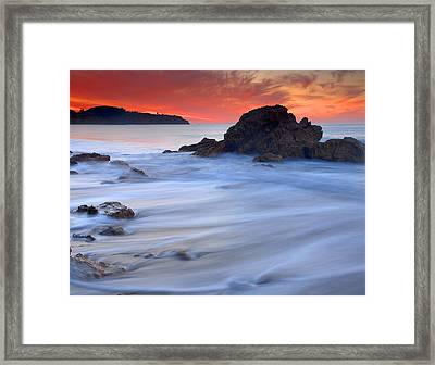 The Ocean Silk Framed Print by Dung Ma