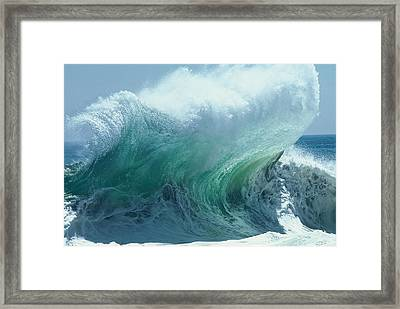 The Ocean's Might Personified Framed Print