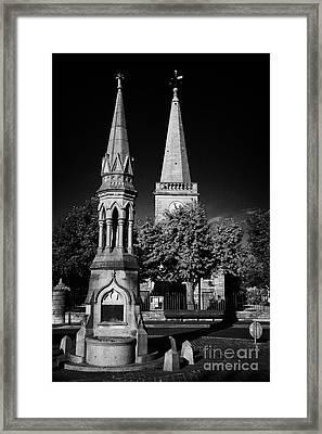 The Oconnor Monument In The Diamond Ballycastle Antrim Northern Ireland Framed Print by Joe Fox