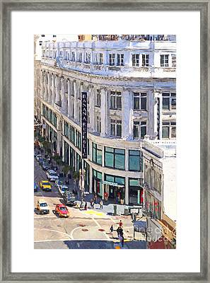 The Old Alfred Hitchcock Vertigo White House Department Store Now Banana Republic Department Store Framed Print by Wingsdomain Art and Photography