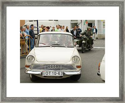 The Old Audi Framed Print by Odon Czintos