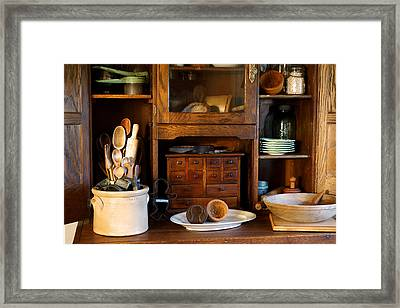 The Old Baker Framed Print by Carmen Del Valle