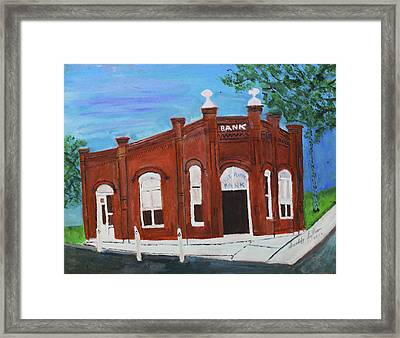 The Old Bank Framed Print by Swabby Soileau