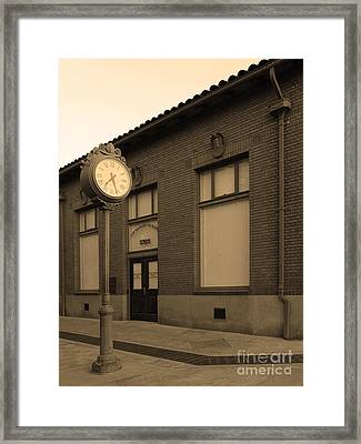 The Old Banker's Building - 5d18429 - Sepia Framed Print by Wingsdomain Art and Photography