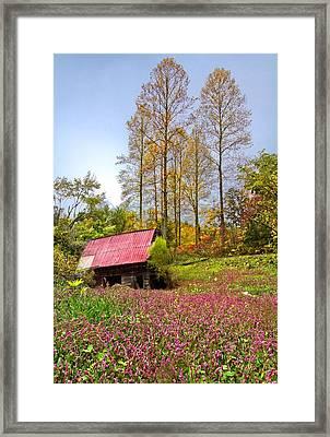 The Old Barn At Grandpas Farm Framed Print