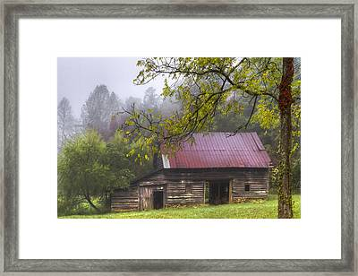 The Old Barn Framed Print by Debra and Dave Vanderlaan