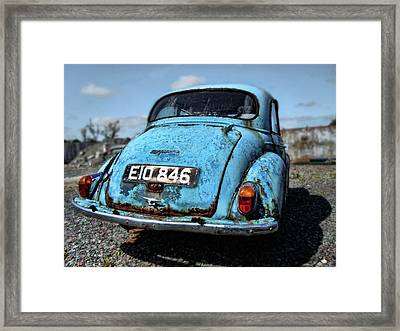 The Old Blue Morris Framed Print
