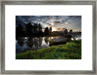 The Old Boat At Sunrise Framed Print