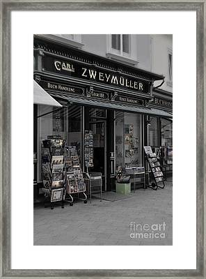 The Old Bookstore Framed Print by Mary Machare