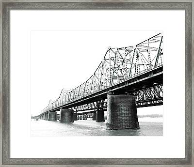 Framed Print featuring the photograph The Old Bridges At Memphis by Lizi Beard-Ward