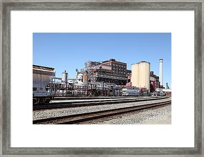The Old California And Hawaii Sugar Company In Crockett California . C And H . 5d16766 Framed Print by Wingsdomain Art and Photography