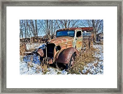The Old Chevy Framed Print by Brenda Becker