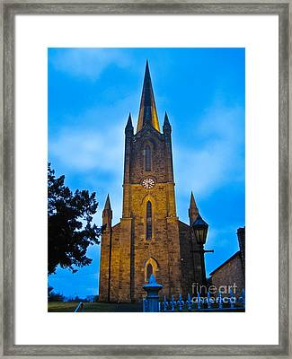 The Old Church At Donegal Town Framed Print by Black Sun Forge