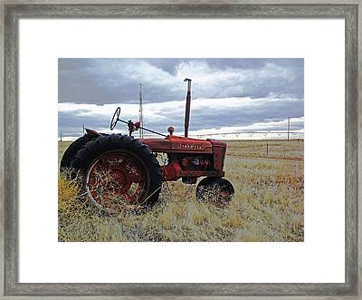 The Old Farmall Tractor 2 Framed Print by Robin Cox