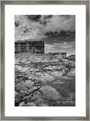 The Old Fisherman's Hut Bw Framed Print by Heiko Koehrer-Wagner