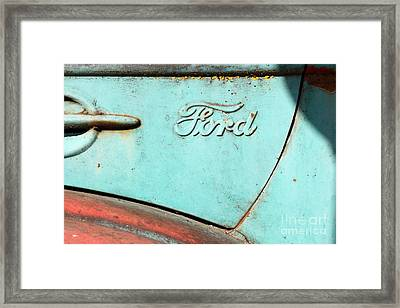 The Old Ford Jalopy . Nostalgia In Abstract . 7d12892 Framed Print by Wingsdomain Art and Photography
