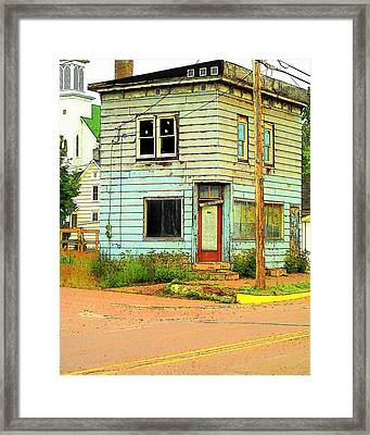 Framed Print featuring the photograph The Old Four-square by MJ Olsen