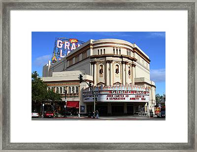 The Old Grand Lake Theatre . Oakland California . 7d13474 Framed Print