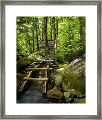 The Old Grist Mill Framed Print by Smokey Mountain  Art