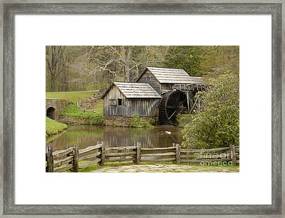 The Old Grist Mill Framed Print by Cindy Manero