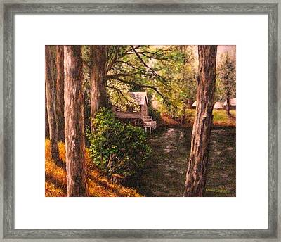 The Old Grist Mill Framed Print by Laurie Golden