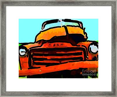 The Old Jalopy . 7d8396 . Color Sketch Style Framed Print by Wingsdomain Art and Photography