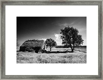 the old leanach cottage on Culloden moor battlefield site highlands scotland Framed Print by Joe Fox