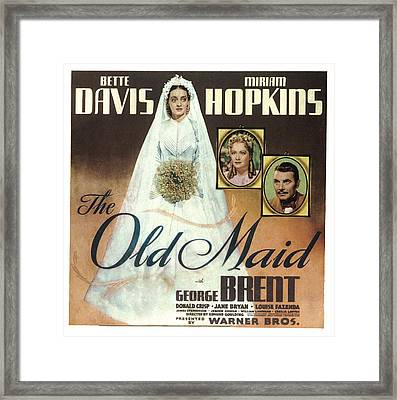 The Old Maid, Bette Davis, Miriam Framed Print