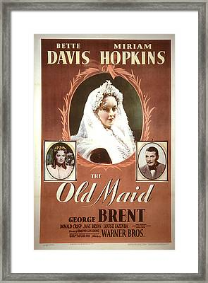 The Old Maid, Miriam Hopkins, Bette Framed Print