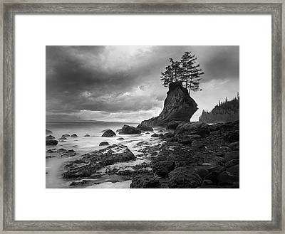 The Old Man Of The Sea - Strait Of Juan De Fuca Framed Print by Nathan Mccreery