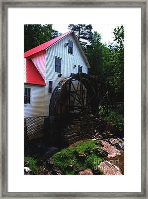 The Old Mill 1886 In Cherokee North Carolina - II  Framed Print