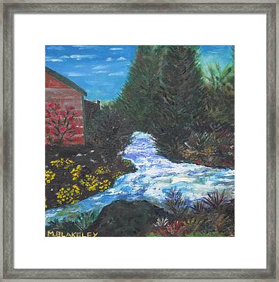 The Old Mill By The River Framed Print