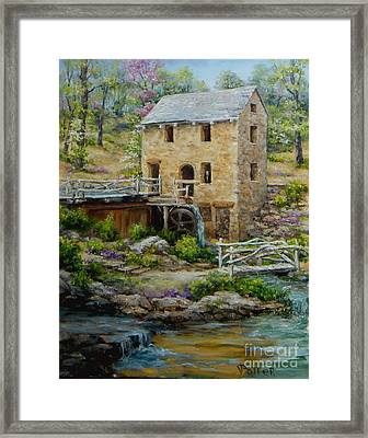 The Old Mill In Spring Framed Print