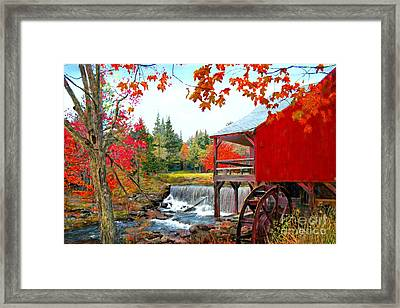 The Old Mill In Weston Vermont Framed Print by Earl Jackson