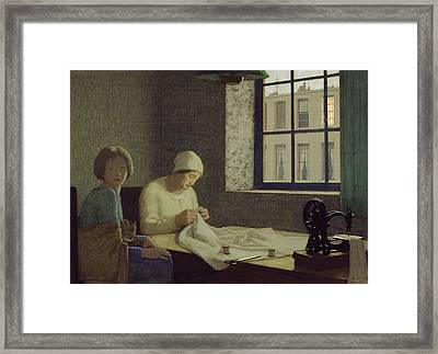 The Old Nurse Framed Print by Frederick Cayley Robinson